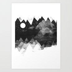 Torn Mounts Art Print
