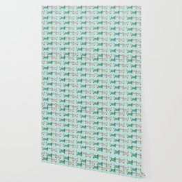 Dachshunds Pattern Dog Cute Wallpaper