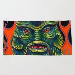 Creature From The Black Lagoon Beach Towel