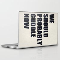 cuddle Laptop & iPad Skins featuring We should probably cuddle now by Nicklas Gustafsson