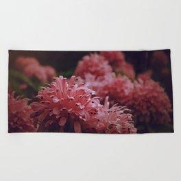 Pink Bellingrath Floral Beach Towel