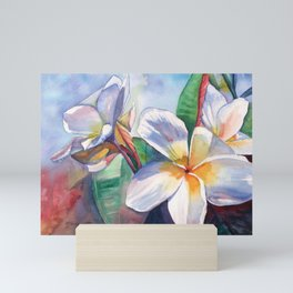 Tropical Plumeria Flowers Mini Art Print