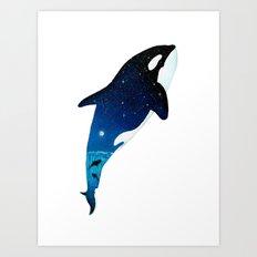 Starry Orca Art Print