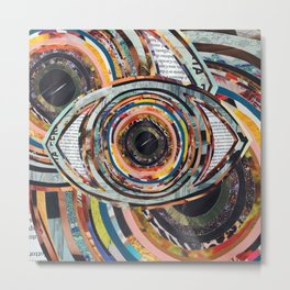 Rainbow Eyes Collage Metal Print
