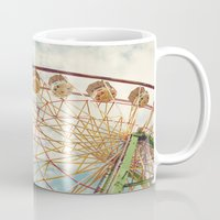 ferris wheel Mugs featuring ferris wheel by Sylvia Cook Photography