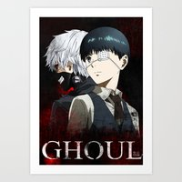 tokyo ghoul Art Prints featuring Tokyo Ghoul by 666HUGHES