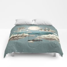 Ocean Meets Sky - colour option Comforters