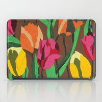 tulips iPad Cases featuring Tulips  by Marjolein