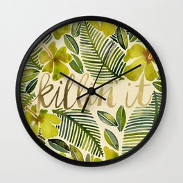 Killin' It – Tropical Yellow Wall Clock
