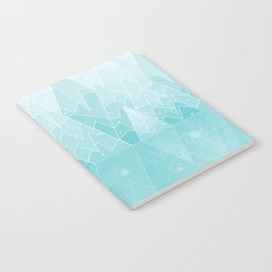 Winter Geometric Mountain  Notebook