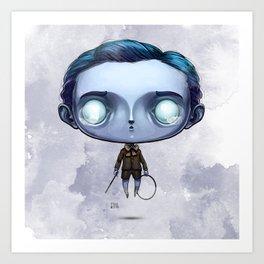 Little Spencer the Hoop Trundler Art Print