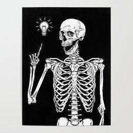 Skeleton got an idea Poster