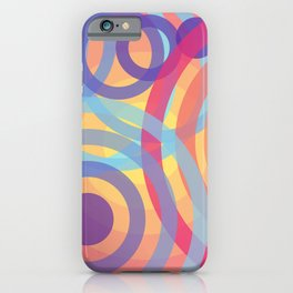 Pink Circles iPhone Case