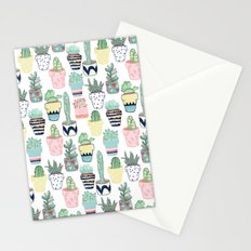 Cute Cacti in Pots Stationery Cards