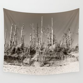Dead Trees On The Beach Wall Tapestry