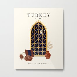 Turkey Exhibition Metal Print