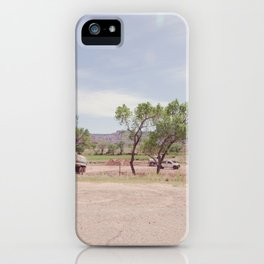 Truck and Helicopters iPhone Case