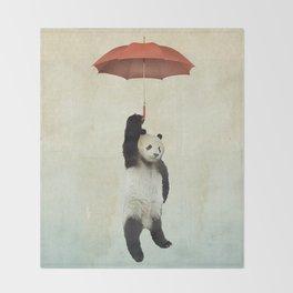 Pandachute Throw Blanket