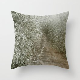 Tuscan Olive Grove Throw Pillow