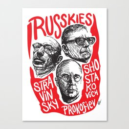 Russkies-Russian composers Canvas Print