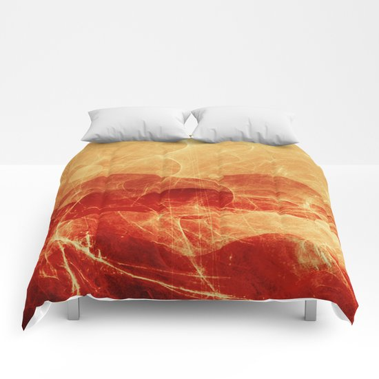Energy Waves - Fire Version Comforters
