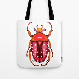 Orange and Red Beetle Tote Bag