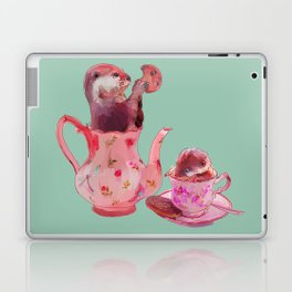 Otter Tea and Biscuits Laptop & iPad Skin