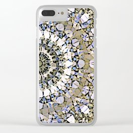 Winter mosaic with mandalas Clear iPhone Case