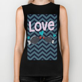 Soy in love with you Biker Tank