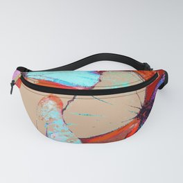 Butterflies in different colors Fanny Pack