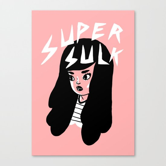 Super Sulk Canvas Print