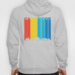 Retro 1970's Style Cambridge Massachusetts Skyline Hoody