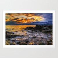 Sparkling Coast Art Print