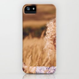 Girl in the field iPhone Case