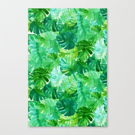 Welcome to the Jungle Palm Canvas Print