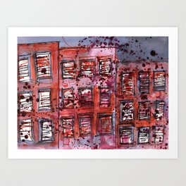One Afternoon In The City 1 Art Print