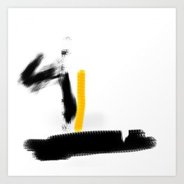 abstract art yellow Art Print