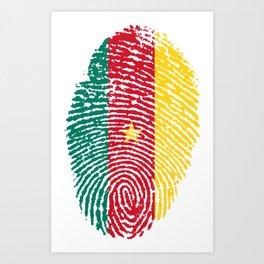 Cameroon Flag Finger Print Art Print