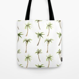 Watercolor palm trees pattern Tote Bag