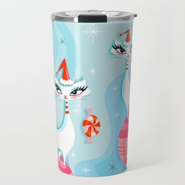 Mod Kitty Christmas Travel Mug