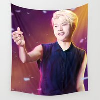 kpop Wall Tapestries featuring Woohyun by Nikittysan