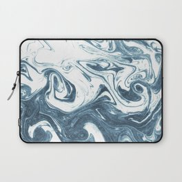 Marble swirl suminagashi minimal ocean waves watercolor ink marbled japanese art Laptop Sleeve