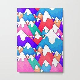 Colourful winter peaks Metal Print
