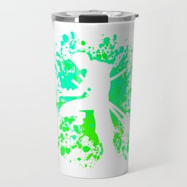 Anime Zoro Paint Splatter Inspired Shirt Travel Mug