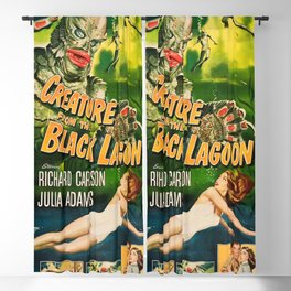 Creature from the Black Lagoon, vintage horror movie poster Blackout Curtain