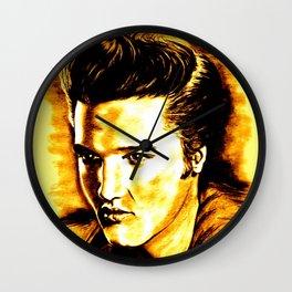 Elvis Gold Wall Clock