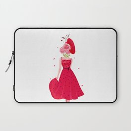 Ledy with flowers Laptop Sleeve