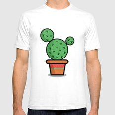 Cactus White SMALL Mens Fitted Tee