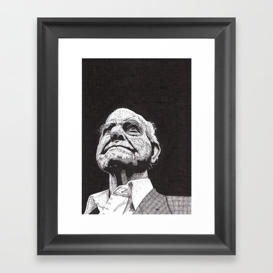 Homeless man5 Framed Art Print