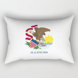 Illinois State Flag, authentic color & scale Rectangular Pillow